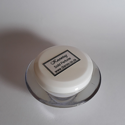 Solid Perfume acrylic jar Knowing